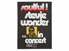 'Soulful! Stevie Wonder' Concert Poster, Guenther Kieser, 1972
