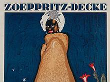 """Benno Eggert, Poster """"Zoeppritz Blanket"""", Rosenheim, 1925"""