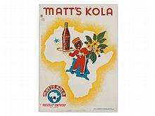 """Ebinger, Poster """"Matt's Kola"""", Belgium, late 19th C"""