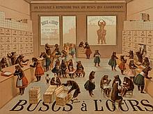 """Buscs à L'Ours Poster """"Bears Shopping"""", France, c. 1910"""