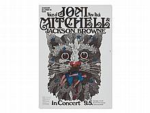 Kieser, Original Concert Poster 'Mitchell & Browne', 1972
