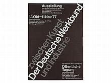 Art Exhibition Poster 'German Work Federation', 1977