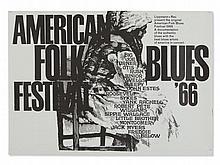 G. Kieser, Vintage Poster 'American Folk Blues Festival', 1966