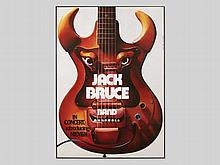 """Funky concert poster """"Jack Bruce Band"""" by Guenther Kieser, 1977"""