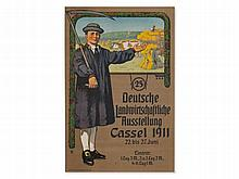 Poster 'Agriculture exhibition Kassel', 1911