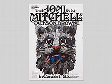 """Great concert poster """"Joni Mitchell"""" by Guenther Kieser, 1972"""