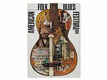 Guenther Kieser, Poster 'American Folk Blues Festival', 1968