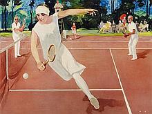 """Art Poster, """"In the Tournament"""", after Jupp Wiertz, 1930s"""