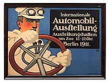 Lucian Bernhard, 'Internationale Automobil-Ausstellung', 1911