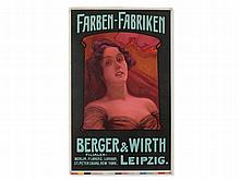 C. Pless, Poster for the Colour Factories Berger & Wirth, 1905