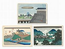 Japanese Color Woodcuts by Three Masters of Ukiyo-e, 20th C