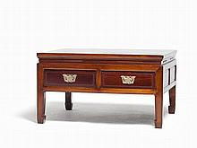 Coffee Table with Two Drawers, China, Qing