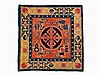 Carpet of a Tibetan Lama with Double Vajra Symbol, 19th Century