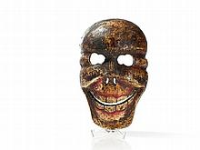 Hand-painted Cham Dance Mask of a Chitipati, Tibet, 20th C
