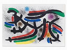 Joan Miró, Color Lithograph, Abstract Composition, 1972