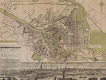 Johann Friedrich Walter, Copperplate Map of Berlin, 18th C.