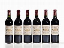 1 original wooden case, 6 bottles 1997 Château Margaux