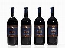 4 magnum bottles 2004 Castello di Fonterutoli Siepi, Tuscany