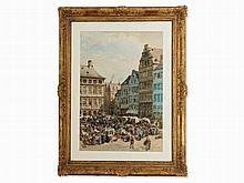 Alphonse Pecquereau (1831- c. 1910), Antwerp Market, circa 1900