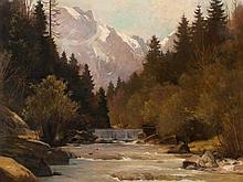 Oswald Grill (1878-1964), Weißenbachtal, Oil Painting, 1930s