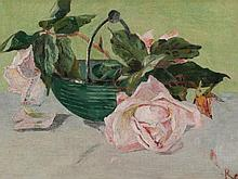 Fritz Reiner, Oil Painting, Still Life with Roses, c. 1910