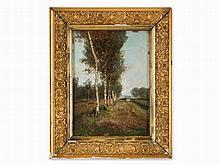 Paul Unbereit, Oil Painting, Birch Landscape, Austria, c. 1920