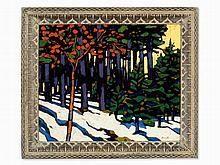 Herrmann von Point, Snowy Forest Glade, Late 20th Century