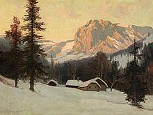 Karl Ludwig Prinz (1875-1944), Painting, Rax in Winter, c. 1915