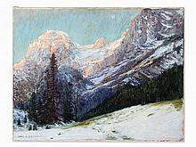 Carl Adolf Korthaus, 'Wintermorgen in der Ramsau', around 1920