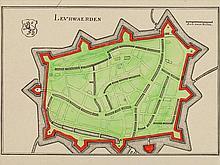 City view of Leeuwarden, M. Merian, 17th Century