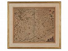 Frederik de Wit, Engraved Map of Luxemburg, Amsterdam, 1680