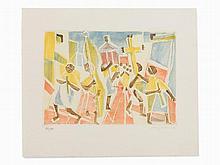 Eduard Bargheer, Corpus Domini, Aquatint in Colors, 1974