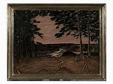 Richard Pietzsch (1872-1960), Autumn in Isarwehr, Oil, 1938