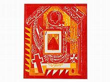HAP Grieshaber, Gnadenbild in Kevelaer, Color Woodcut, 1974