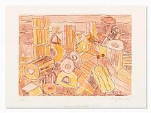 Eduard Bargheer, Selinunt, Color Etching, 1971