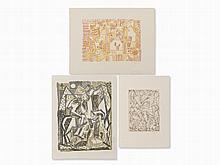Eduard Bargheer, Landscapes, 3 Prints, 1960/65