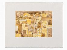 Eduard Bargheer, Forio d'Ischia, Etching in Colors, 1973