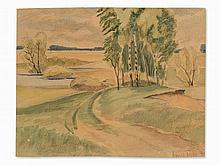 Arnold Topp (1887-1961), Meseritzer Heath, watercolor, 1940