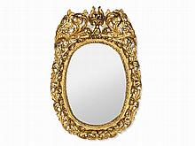 Baroque, Mirror with Rich Carved Decor, 1st H. 18th C.