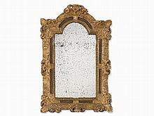 Louis XV Wall Mirror With Floral Framing, France, around 1730