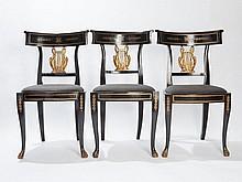 Six Elegant Empire Chairs, Italy, around 1810