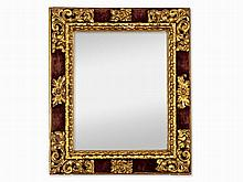 Mirror in Baroque Style, Carved & Partly Gilt, Spain, 19th C.