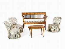 Living Room Set in Biedermeier Style, 5 Pieces, 19th/20th C.
