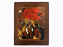 Icon with Scenes from the Life of Elijah, Russia, 18th Century