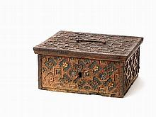Oak Wood Casket in the Style of Weser Renaissance, c. 1600