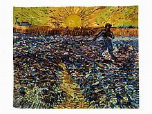After Vincent van Gogh, Le Semeur au Soleil couchant, Tapestry