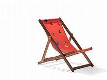 Damien Hirst, Deckchair, Merpauh & Printed Sailcloth, 2008
