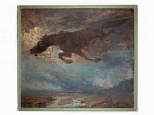 Rudolf Jettmar, Oil Painting, War Vision, Austria, 1936