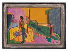 Wolfgang Leber (born 1936), 'Figur an einem Gitter', 1979