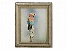 Willem de Beer, Painting, Lilac Breasted Roller, around 2000
